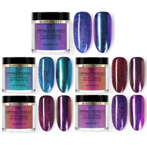 5 Boxes BORN PRETTY 10ml Dipping Powder Chameleon Mirror Nails NO UV Pro Kit