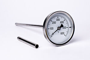 600°C Backofenthermometer Ofenthermometer Thermometer Holzbackofen 500 mm Länge