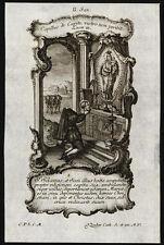 santino incisione 1700 S.SILANO M. DI PERIGUEUX   klauber