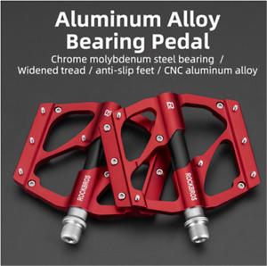 "ROCKBROS Bearing Bicycle Pedals Waterproof Flat BMX Road MTB Bike Pedals 9/16"""