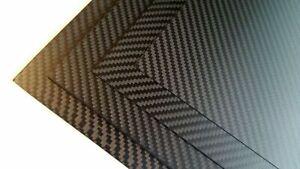 3K 100% Rigid Carbon Fibre Sheet 0.5, 1.0, 1.5, 2.0, 2.5, 3.0, 4.0, 5.0mm