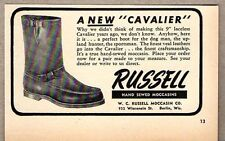 1950 Print Ad Russell Cavalier Boots Made in Berlin,WI
