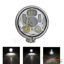 Motorcycle LED Headlight Lamp Clear Glass Lens For Harley Chopper Cafe Racer New
