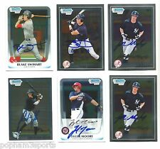 JOHN RYAN MURPHY Signed/Autographed 2010 BOWMAN CHROME CARD Yankees J.R. w/COA