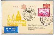 ENGLAND to GERMANY 1932 ZEPPELIN, Englandfahrt Backflight Card + Board,ex Nutley