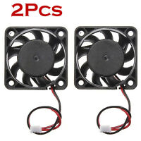 2Pcs 12V Mini Small 40MM x 40MM x 10MM DC Brushless 2-pin Cooling Computer Fan