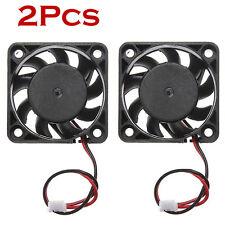 2Pcs 12V Mini Small 40MM x 40MM x 10MM DC Brushless 2 pins Cooling Computer Fan