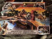 Jurassic World Matchbox Harbor Rescue Playset-BNIB