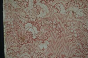early period whole cloth toile quilt bed cover 84x96 original red 18th 19th c
