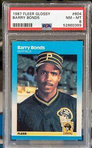 52860399 Barry Bonds 1987 Fleer Glossy 604 Rookie RC PSA 8 Pirates