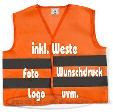 Pannenweste Warnweste bedrucken 2 Farben mit Wunschdruck Orange und Yellow