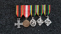 (A31-8) Bundeswehr Miniaturordenspange mit 5 Orden Ehrenkreuz Silber Waldbrand