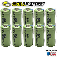 10pc 1/2Aaa 1.2V NiMh Rechargeable Battery w/Tabs For Meters Radios Tools