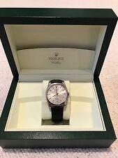 Rolex CELLINI DANAOS 4243/9 18K oro bianco e pelle (Nuovo Di Zecca)