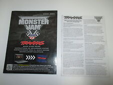 Traxxas 1/10 Monster Jam Monster Truck Instruction Manual Book ONLY OZ RC Models