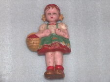 Rare Vintage Cute Character Red Riding Hood Rubber Toy Doll, Ussr/Russia