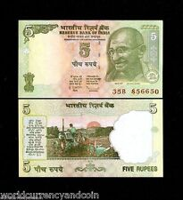 INDIA 5 RUPEES NEW 2010-2011 GANDHI UNC BUNDLE LOT X 1000 PCS MONEY BANK NOTE