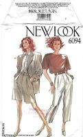 New Look # 6094 Sewing Pattern Misses' Jacket Shorts Pants Top Size 8-18 Uncut