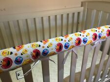 Reversible Baby Cot Crib Teething Rail Cover Protector ~ Sesame Street