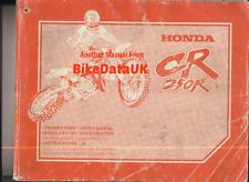 Honda CR250R-Y (2000) Owners Factory Service & Repair Manual Book CR 250 R CF72