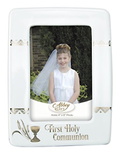 Abbey Gift 1st Holy Communion Frame, White