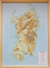 Sardegna Carta Regionale in Rilievo [con cornice in legno] [67x93 cm] Global Map