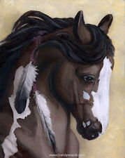 Cavalia Rose Bay Blaze Horse Ranch Profile oil art artwork PRINT Brandy Woods