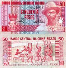 Guinea-Bissau 50 Pesos 1990 Unc pn 10