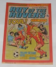 ROY OF THE ROVERS COMIC 6TH SEPTEMBER 1980 IAN WALSH OF WALES