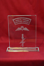 Special Forces Support Group SFSG Crystal Plaque, Airborne & LED light base