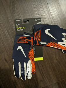 Nike Vapor Jet Football Receiver Gloves Chicago Bears PGF660-462 Sz Large L