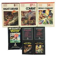 Atari 2600 Game Bundle: Combat, Air-Sea Battle, Missile Command, Night Driver