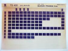 MICROFICHE MOTO SUZUKI TS 400 APACHE MONO 1976  K/L/M/A/B