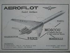 10/1976 PUB COMPAGNIE AERIENNE AEROFLOT SOVIET AIRLINES MOSCOW URSS CCCP AD