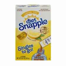 3 Pack Diet SNAPPLE lemon large Soft Drink Mix 6 Stick In Each Box single to go