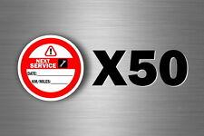 50x oil next service due reminder car truck filter maintenance garage van change