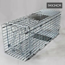 Humane Animal Trap Cage Possum Fox Koala Rabbit Bird Cat Dog Live Catch 94x34x36