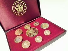 More details for uk 2006 9 coin euro proof patterns 1c to €5 + certificate cased low mintage