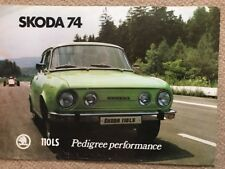 Car Brochure - 1974 Skoda 110 LS - UK