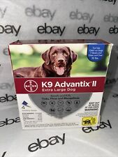 K9 Advantx Ii Extra Large Dog Repels & Kills Ticks & Fleas 4 Months Over 55 lbs