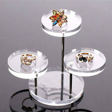 Acrylic Jewelry Necklace Bracelet Display Round Table Holder Stand Rack Case Hot