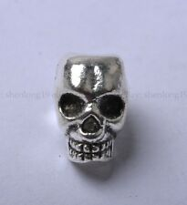 10pcs Tibetan Silver skull Spacer Beads 12X8MM SH810
