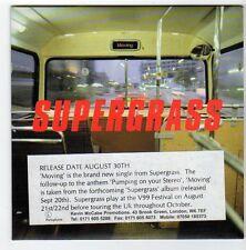 (EZ692) Supergrass, Moving - 1999 DJ CD