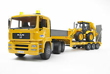 BRUDER MAN TGA + JCB 4CX - Autoarticolato + Terna / Low Loader + Backhoe [2776]