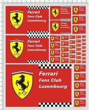 Self Adhesive Sticker Ferrari for 1/10 1/12 model kits 20296