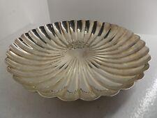 More details for antique elkington silver plate sunburst scalloped art deco large dish (b8)