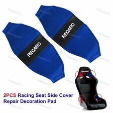Jdm Recaro Racing Seat Blue Pvc Side Cover Repair Decoration Pad Seat Racing 2pc