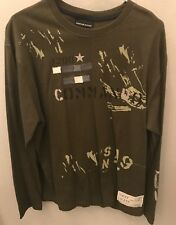 DKNY Jeans Men's Army Green Long Sleeve T Shirt, sz Large - Graphic - NEW