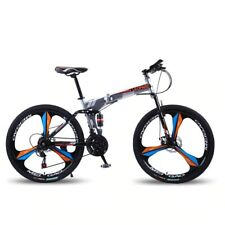 """Foldable Mountain Bike/Bicycle NEW SPEED Fat Tire 26"""" Frame 21 speeds Suspension"""