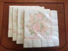 Vtg HALLMARK Floral WEDDING Shower PAPER Luncheon NAPKINS (4 packs of 16)